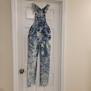 Rue21 Acid Wash Overalls Distressed pants size 0